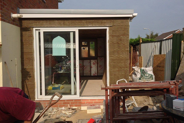 An image of a newly built house extension.