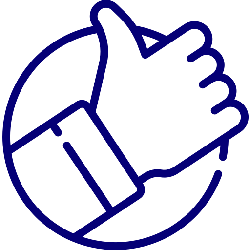 An icon depicting a thumbs up