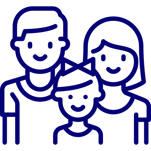 An icon depicting a family